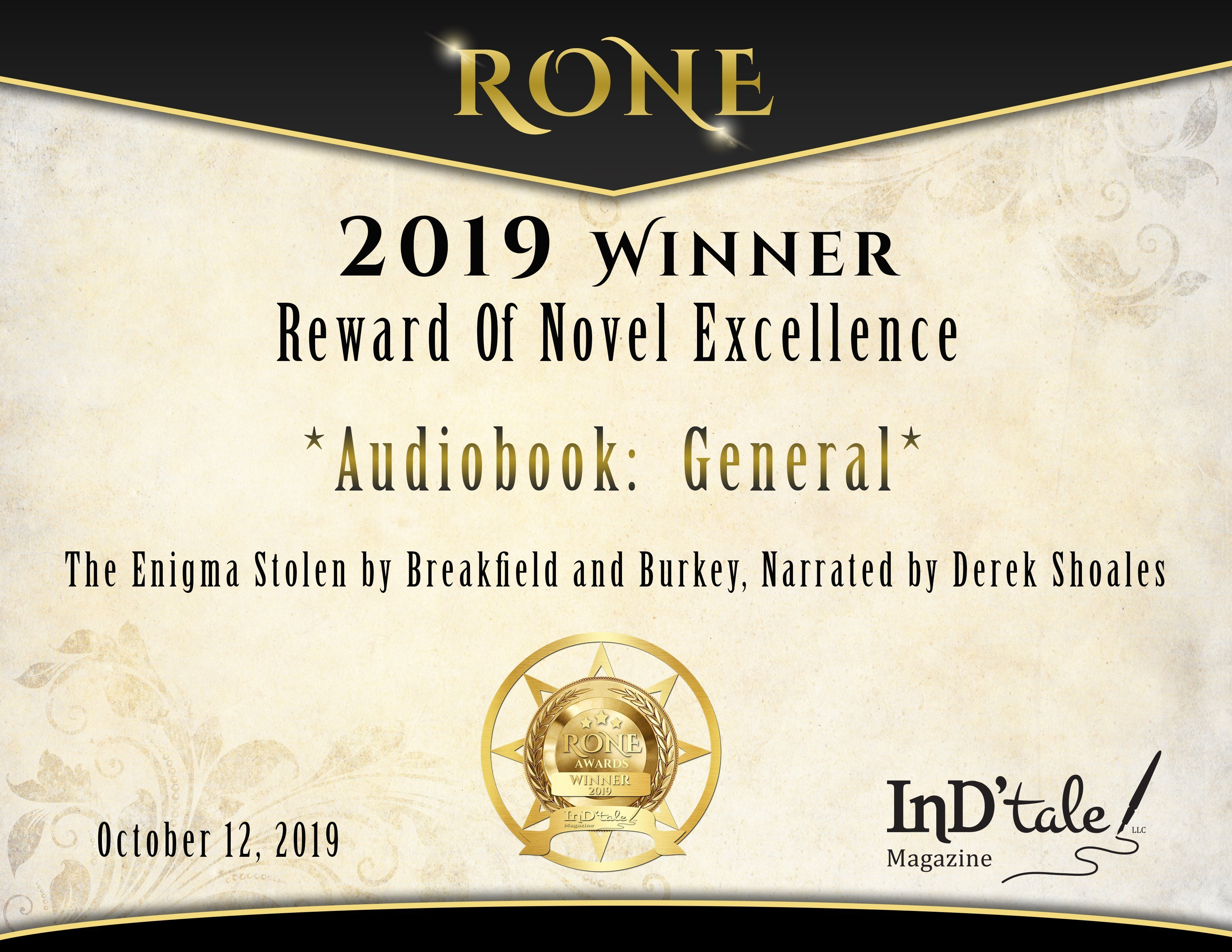 RONE 2019 Winner – Audiobooks: General