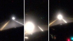 VIDEO: Americký řidič se střetl s mohutnou světelnou koulí