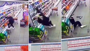 VIDEO: Poltergeist prý napadl nic netušící prodavačku