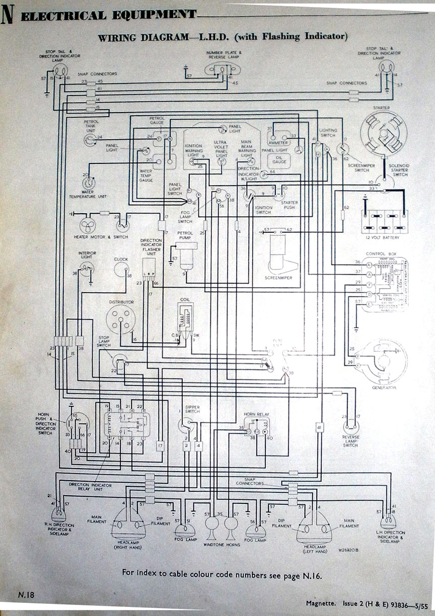 Magnette LHD Wiring morris minor wiring diagram efcaviation com morris minor wiring diagram pdf at soozxer.org