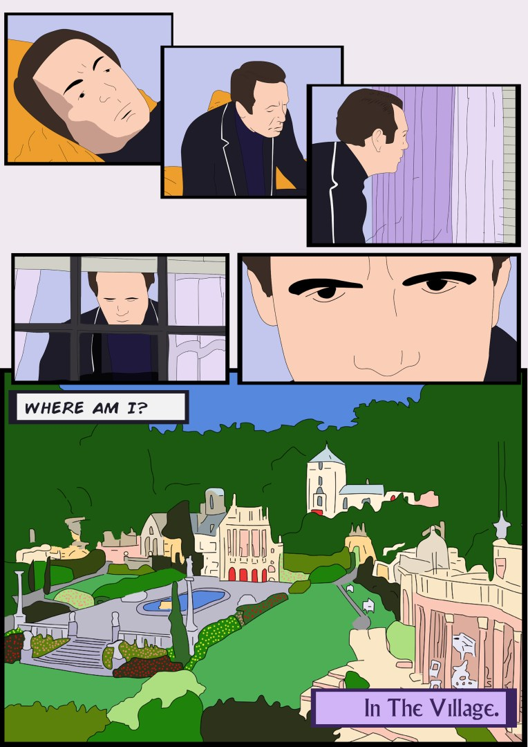 The Prisoner: Arrival comic, page seven