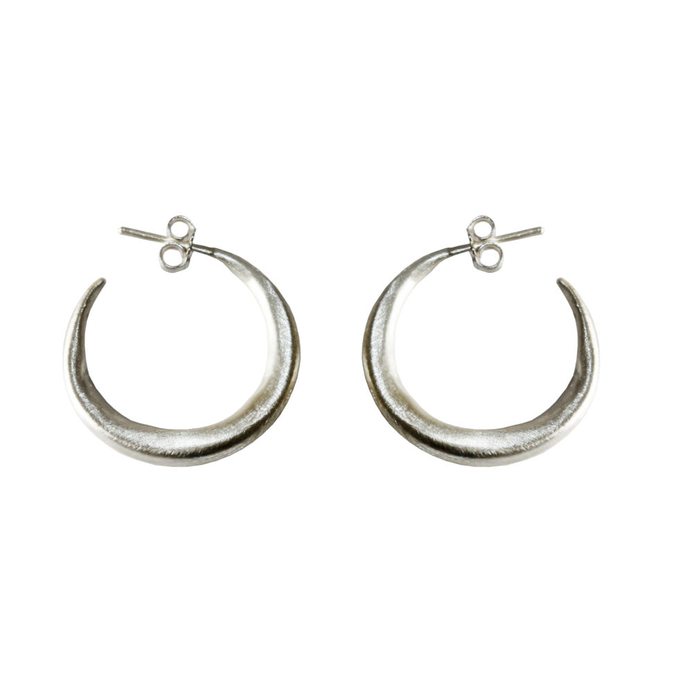 Small Silver Chenier Hoop Earrings  Eni Jewellery