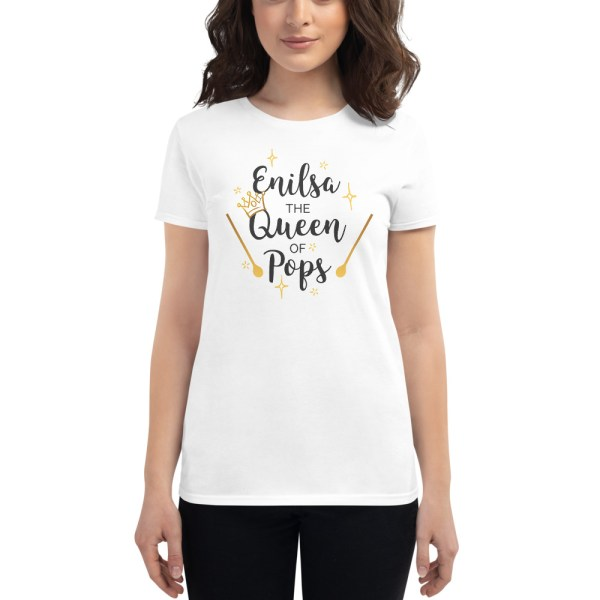 The Queen of Pops - White T-Shirt - Front