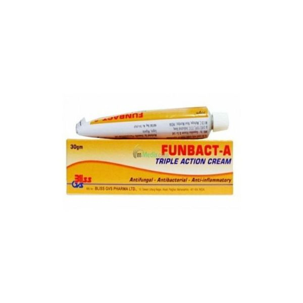 FunBact A Triple Action Cream. 30gm