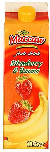MACCAW STRAWBERRY & BANANA FRUIT DRINK 1L