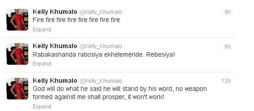 Source: Kelly Khumalo's tweet (@Kelly_Khumalo)