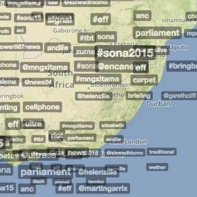 Trendsmap South Africa - 12 February 2015