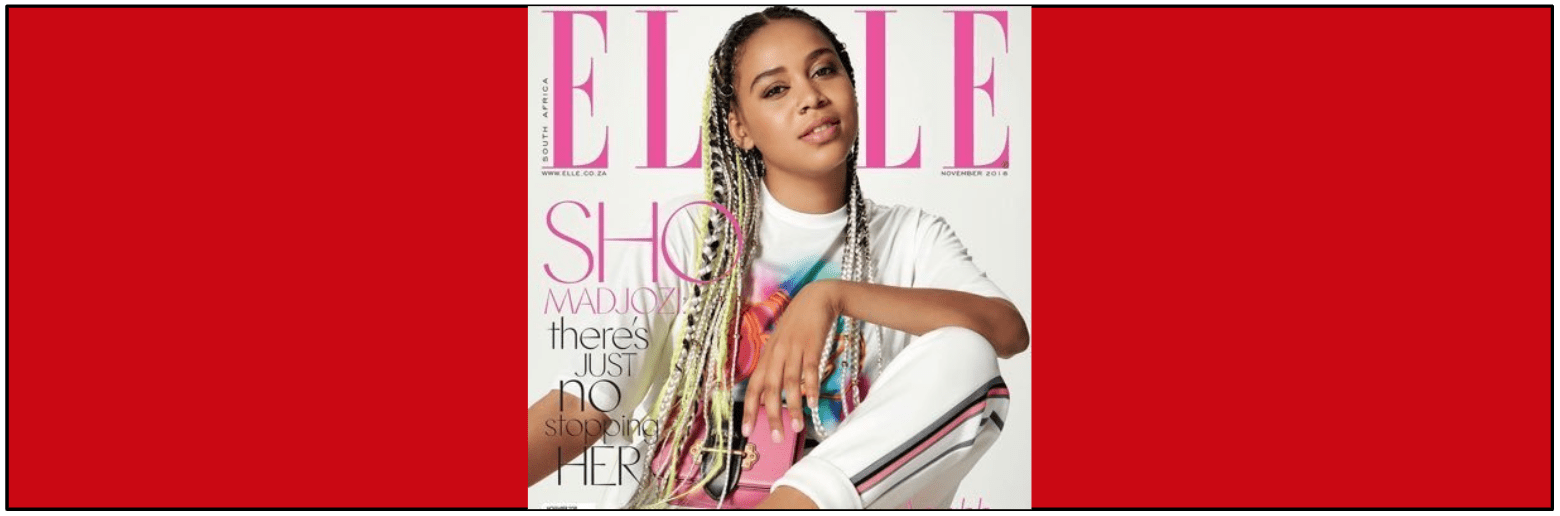 Sho Madjozi on Elle Cover