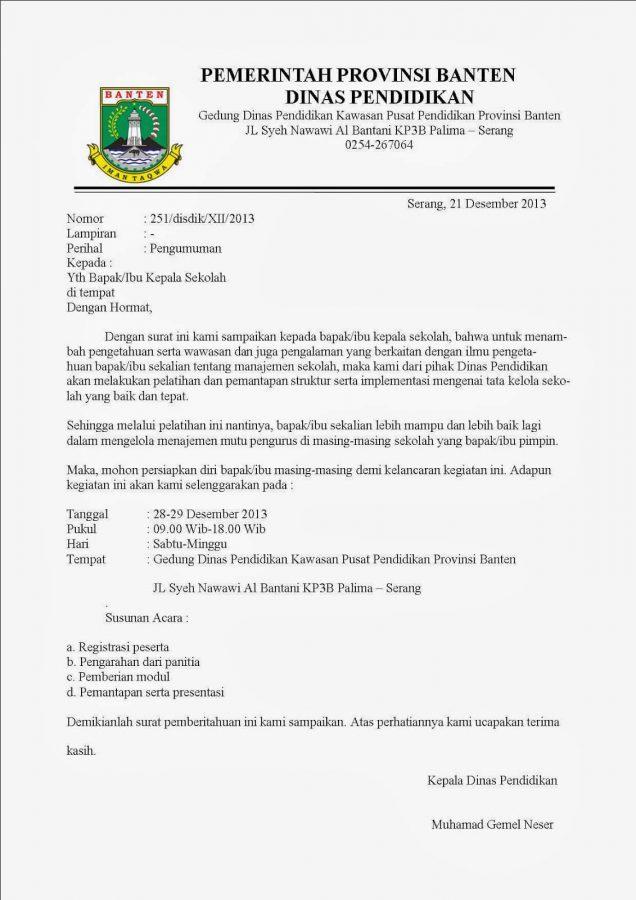 Contoh Surat Resmi Versi Indonesia Baru