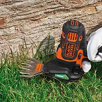 ブラックアンドデッカー-マルチツール-2in1ガーデンヘッド-使用例-芝生バリカンブレードでの芝や雑草の手入れ