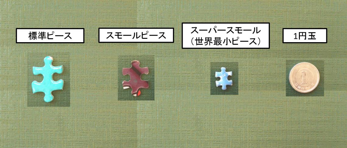 パズルのピースサイズ比較