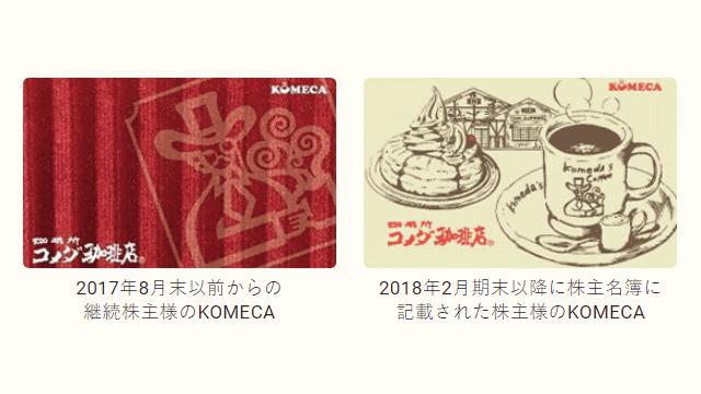 コメダ 株価 優待