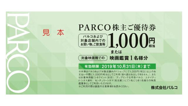PARCO株主ご優待券