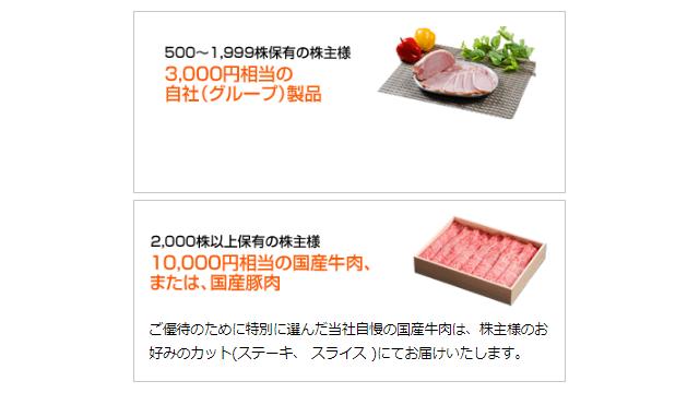 S FOODSの株主優待