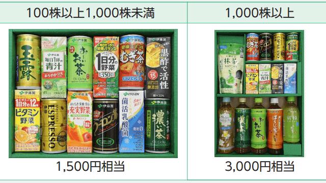 伊藤園の株主優待「自社製品」