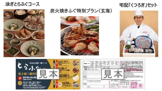 東京一番フーズの株主優待