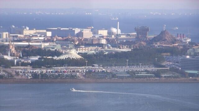 遠方から撮影した「東京ディズニーリゾート」