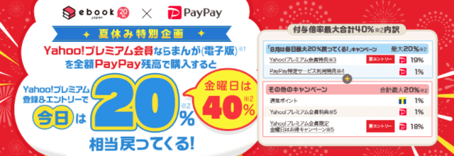 PayPay主催のキャンペーンで金曜日は最大40%