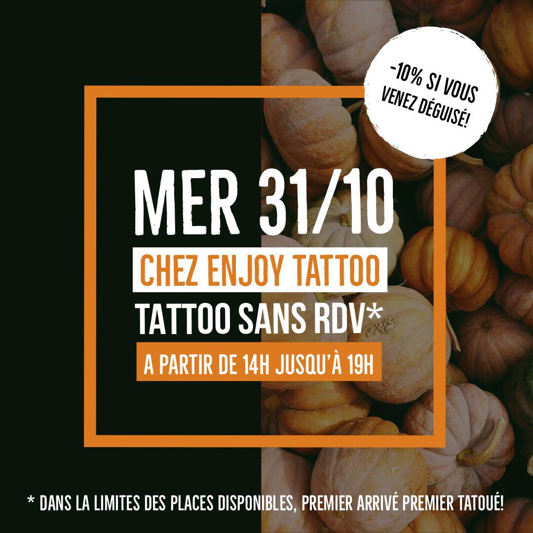 HALLOWEEN chez Enjoy Tattoo !