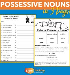 Teaching Possessive Nouns in Three Days Is Easy [ 1920 x 1920 Pixel ]