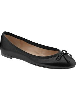 Ashley bow ballet flat - Black