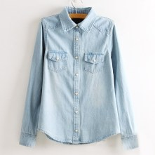 wash denim shirt
