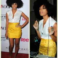 Natural Hair:: Celebrities out and about:: Solange