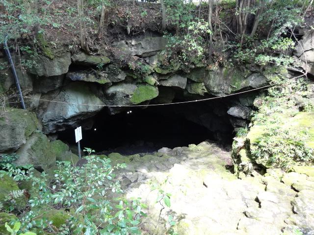 駒門風穴 洞窟の入り口 大きい