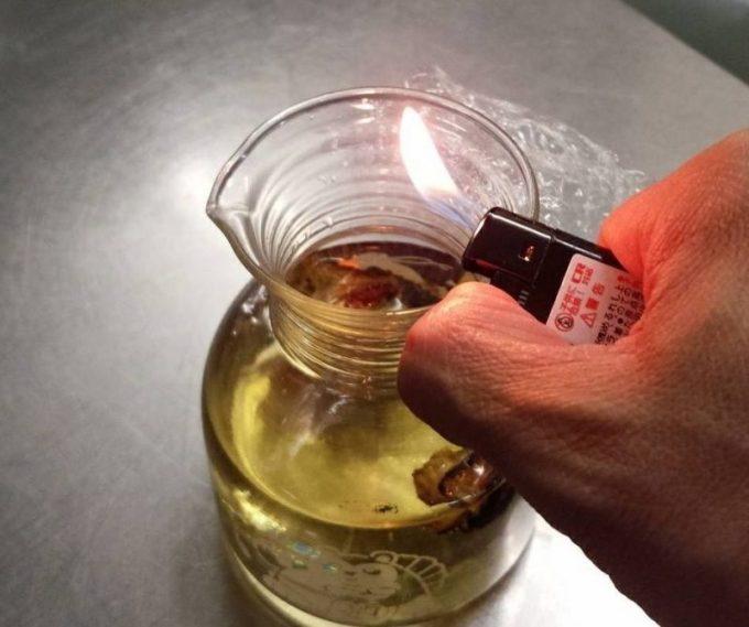ふぐのひれ酒 レシピ 灰汁飛ばし ふぐヒレ