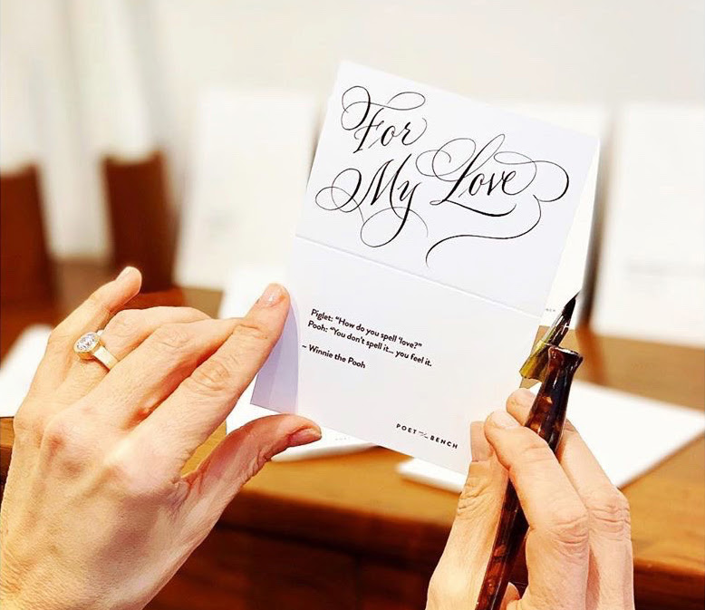 Poet and/the Bench to Host Calligraphy Event – Sept. 11