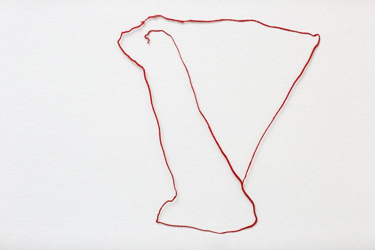 """""""Lägel 2"""", 2003, etsat fiberstål + akryl, konstverk av Curt Asker."""