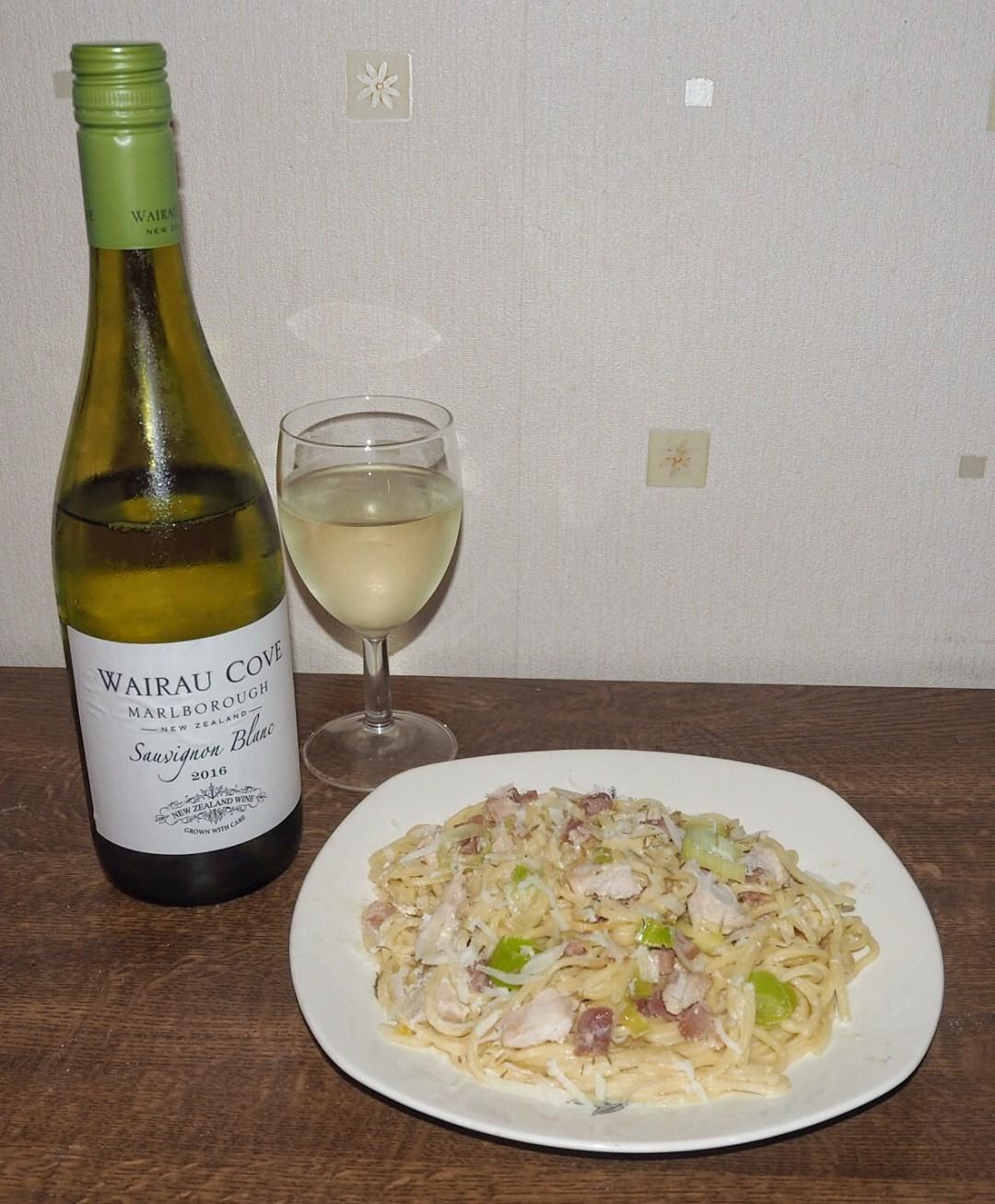Chicken & Leek Carbonara & Wine
