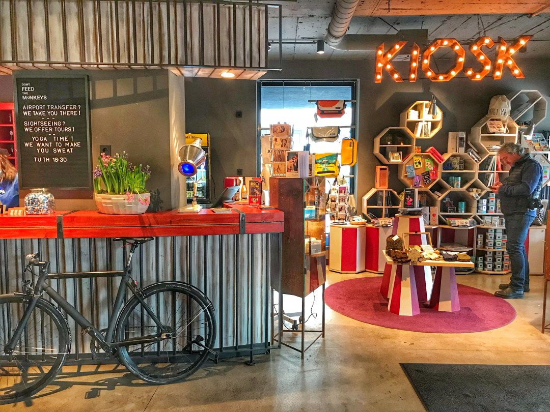 Quirky Circus Themed Hotel - 25hours Vienna at MuseumsQuartier - Reception Kiosk