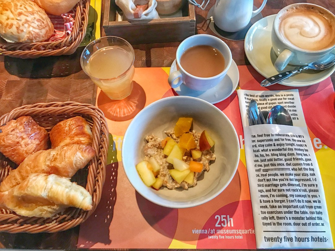 Quirky Circus Themed Hotel - 25hours Vienna at MuseumsQuartier Buffet Breakfast