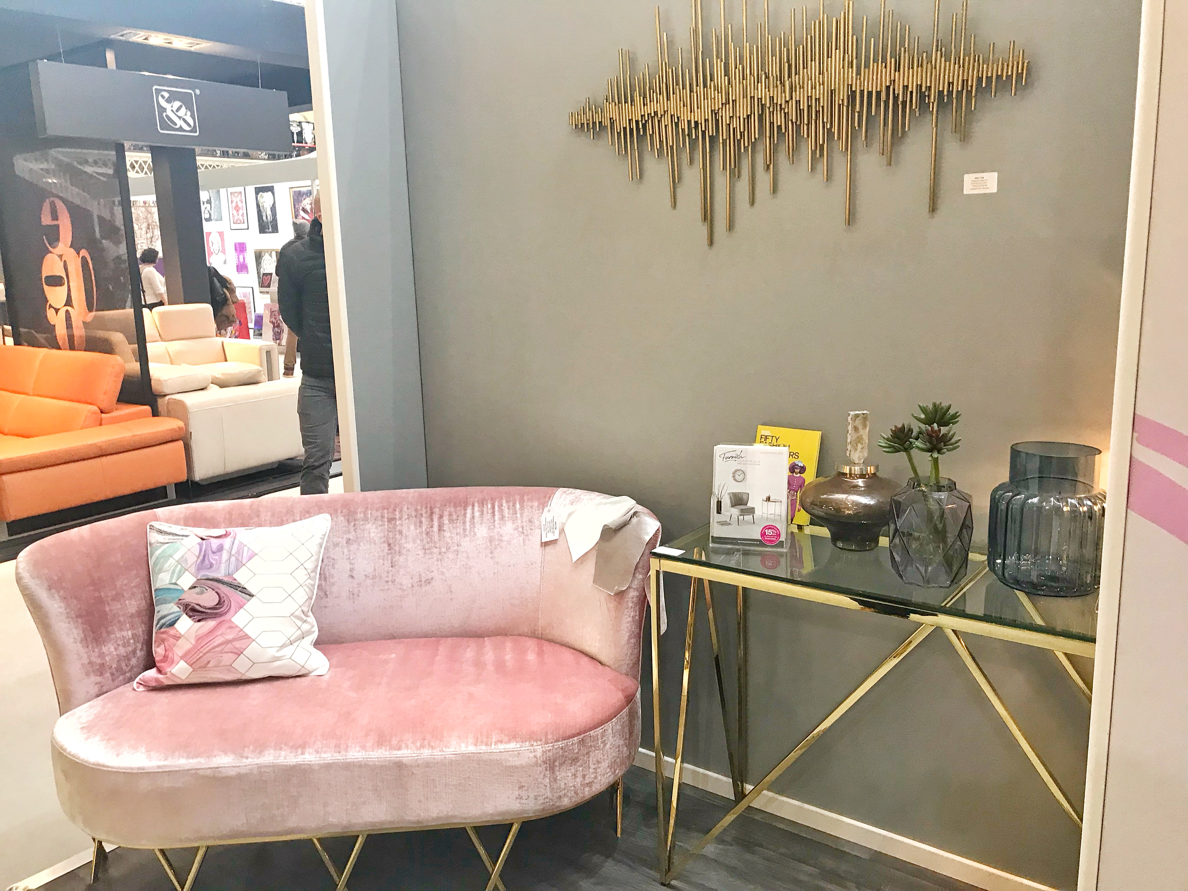 The Designs Are Very Sleek And Modern, My Favourite Piece Was This Pink  Sofa, I Absolutely Love The Style And Colour! I Also Really Liked This Ruby  Coloured ...