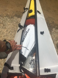 You can store several dry bags in the bow and stern of an Oru Kayak
