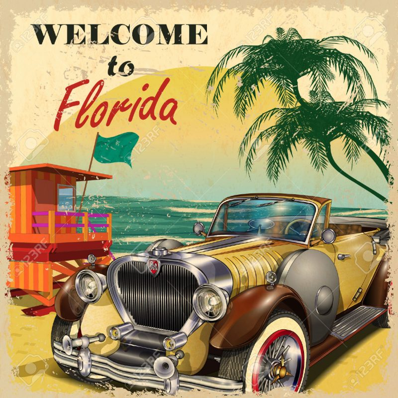 50s Classic Cars Wallpaper La Florida Nei Poster Vintage Enjoy Travel And Art