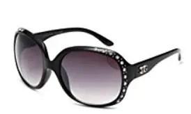 "Newbee Fashion-""Berrysweet"" - Oversized High Fashion Sunglasses for Women with Rhinestones Blingbling UV Protection"