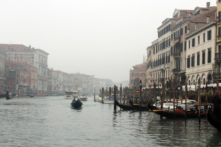 Gondola ride on the Grand Canal in Venice Italy