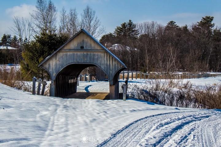 Winter in Bethel Maine | Covered Bridge