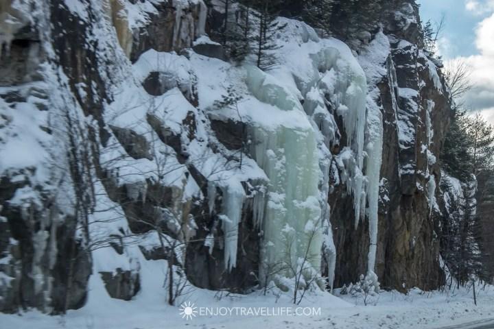 Winter in Bethel Maine | Frozen Winter Runoff
