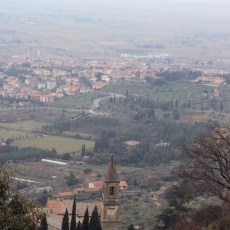 Cortona Italy Church View