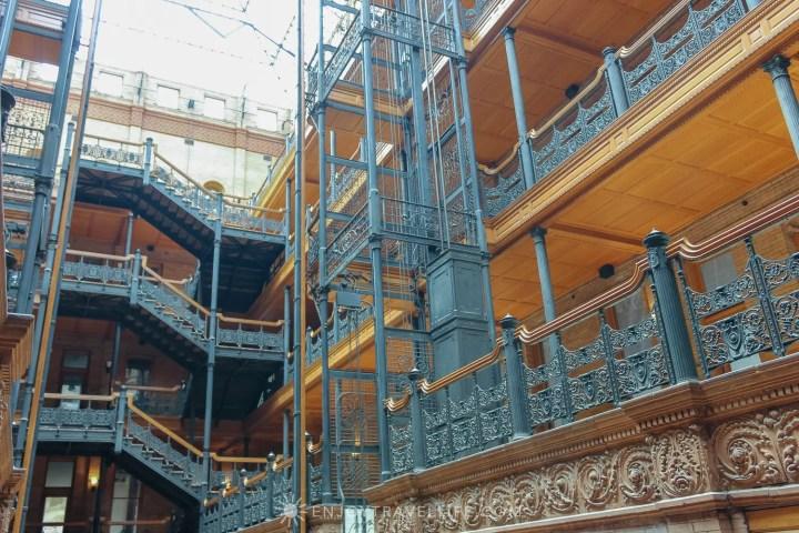 The Bradbury Building Los Angeles - Hollywood superstar and architectural landmark filigree interior ironwork