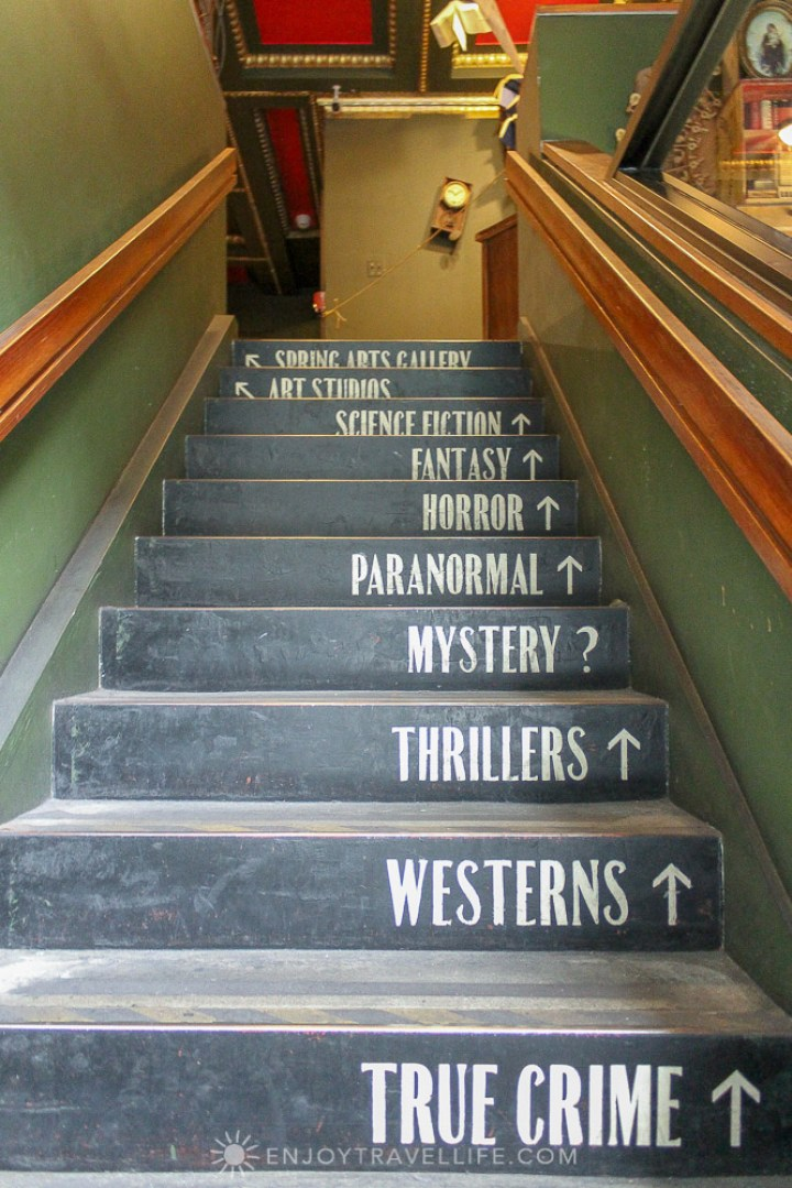 California's Largest Used and New Book and Record Store - stairs