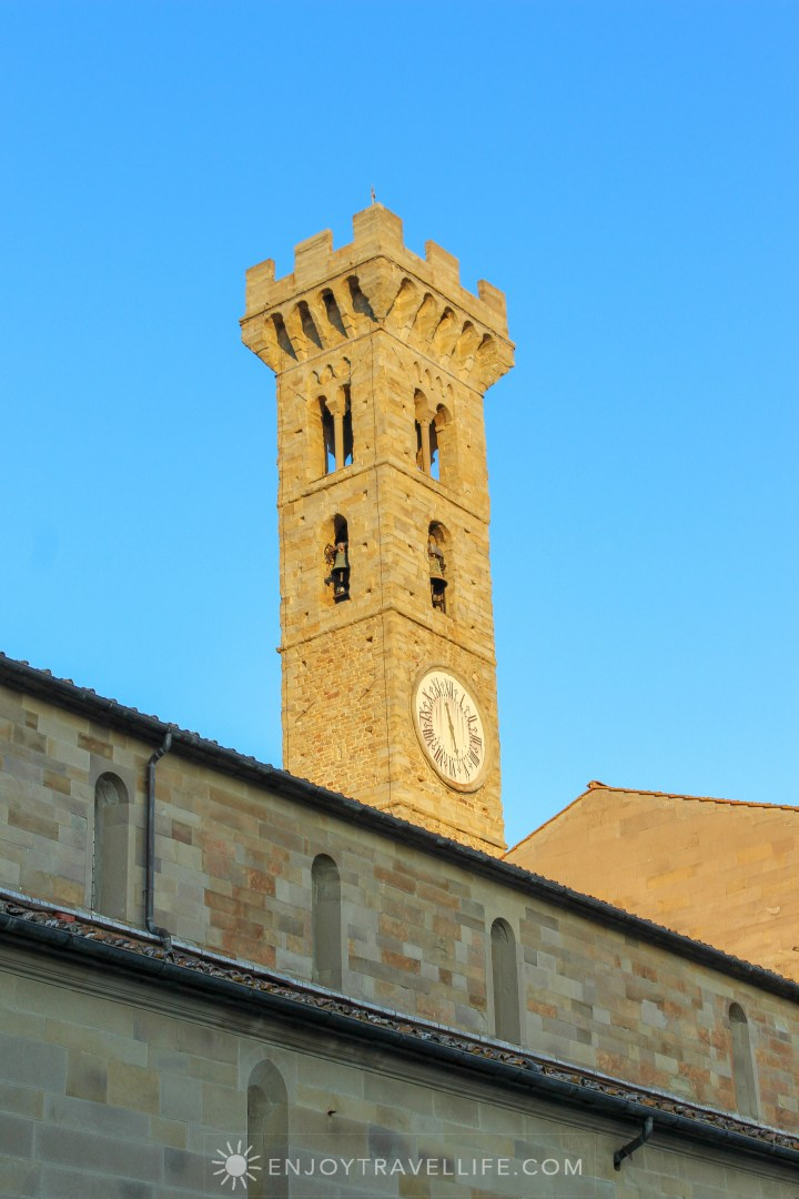 Sunset over Florence Italy - Fiesole bell tower