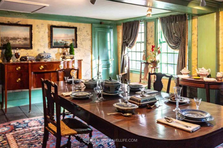 Dining Room at House of the Seven Gables in Salem MA