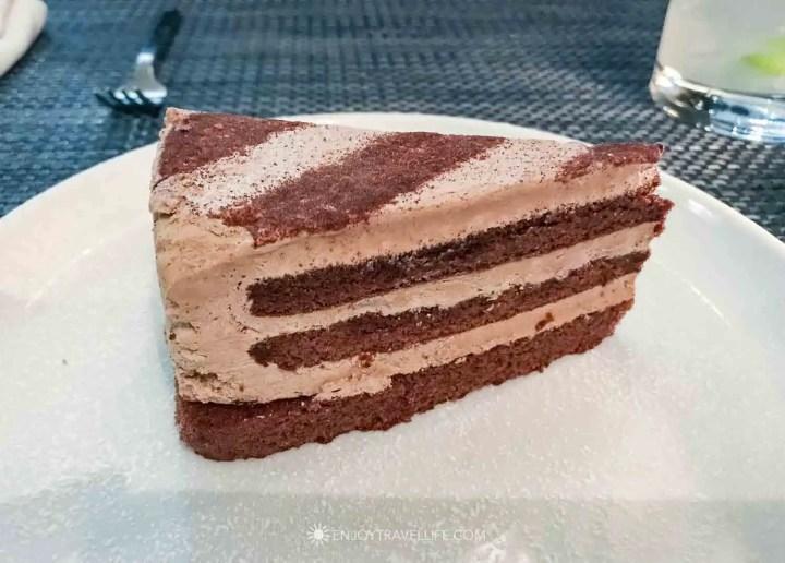 il Molo dessert, chocolate cake