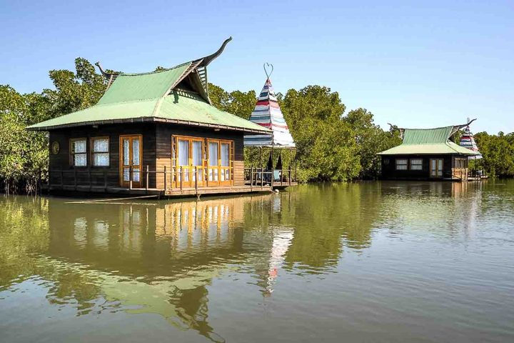 Lodge on the river in Gambia is romantic
