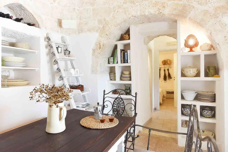 Interior of rental cottage in Cisternino - Apulia, Italy
