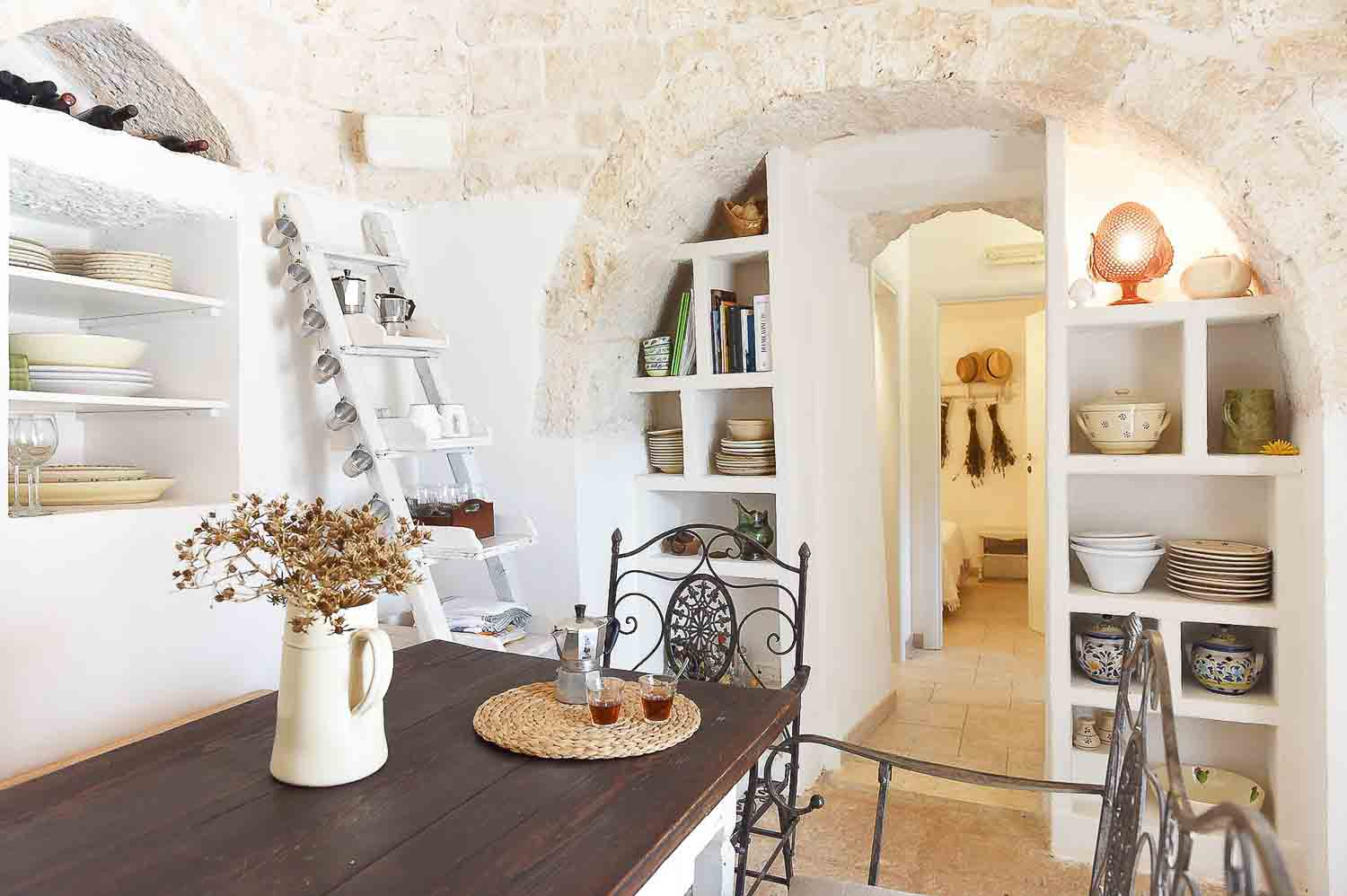 Interior of rental cottage in Cisternino - Apulia, Italy